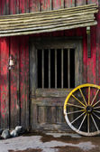 Western house with wheel — Foto Stock