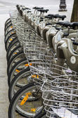 Row of Bicycles — 图库照片