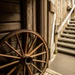 Old wagon wheel — Stock Photo #51480123