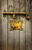 Old golden latch — Stock Photo