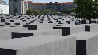 The Berlin Holocaust Memorial — Stock Video
