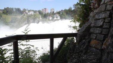 Rhine Falls near Schaffhausen in Switzerland — Stock Video