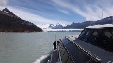 Perito Moreno glacier in Patagonia — Stock Video