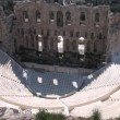Stock Video: Odeon of Herod Atticus on Acropolis in Athens, Greece