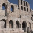 Odeon of Herod Atticus on the Acropolis in Athens, Greece — Stock Video #14173923