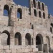 Stock Video: Odeon of Herod Atticus on the Acropolis in Athens, Greece