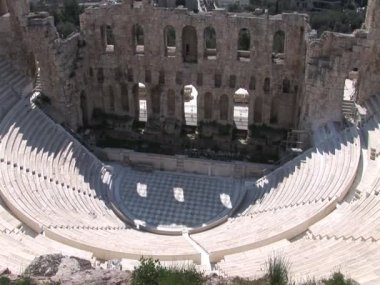 Odeon of Herod Atticus on the Acropolis in Athens, Greece — Stock Video