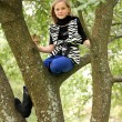 Young Girl In Tree Lims — Stock Photo