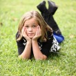 Young Girl On the Grass — Stock Photo