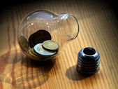 Deposited in the bank — Stock Photo