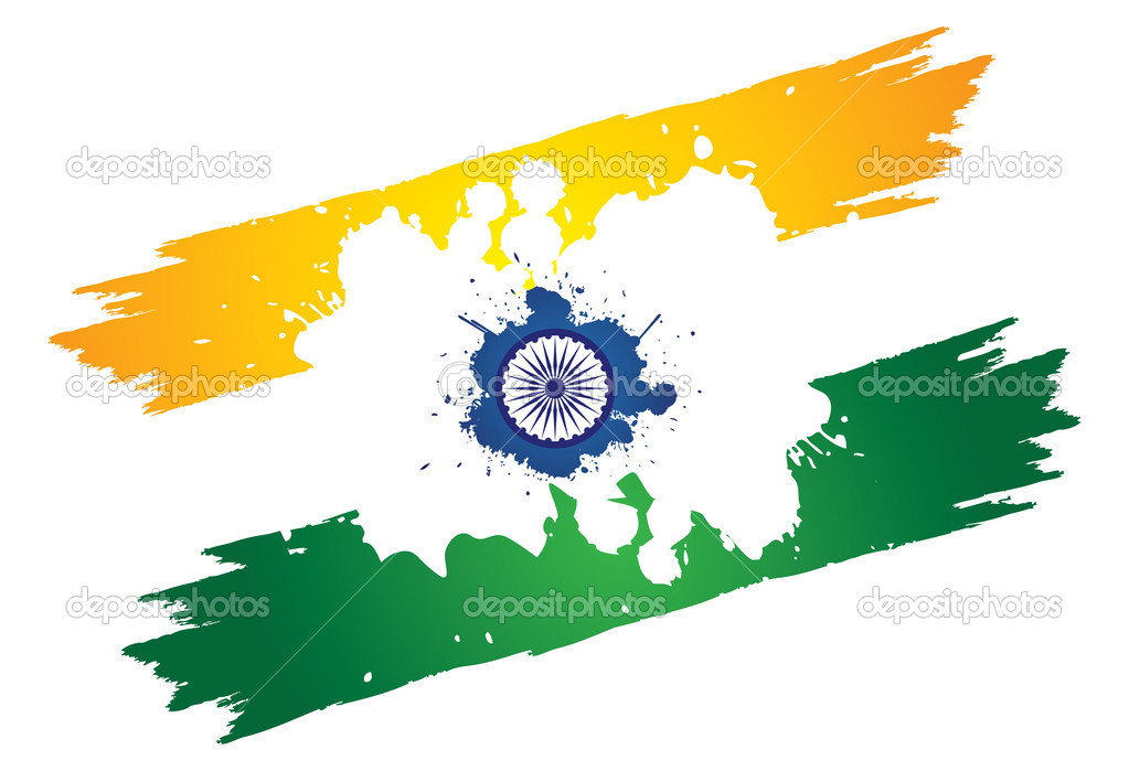 Colorful Indian Indian Tri-color National Flag