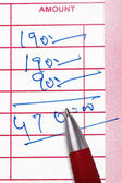 Calculating total amount — Stock Photo