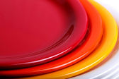 Colorful plates stacked — Foto Stock