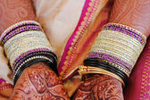 Bride and bangles — Stock Photo