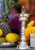 Indiska silver lampa — Stockfoto