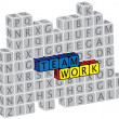 Royalty-Free Stock Vector Image: Illustration of word teamwork using alphabet(text) cubes. The gr