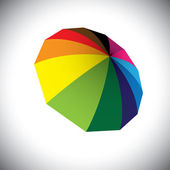 Bright colorful umbrella(parasol) illustration. This graphic can — Vector de stock