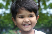Beautiful young indian girl child smiling & happy and having fun — Stock Photo