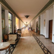 Stock Photo: Modern hotel/resort/restaurant corridor with stylish decor