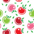 Seamless abstract background pattern of colorful apples vector - Stock Vector