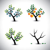 Abstract tree in spring, summer, autumn & winter-vector graphic. — Stockvektor