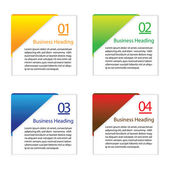 3D vector illustration of colorful blank or empty info cards — Stock Vector