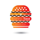 Fast food burger icon for cafes and hotels- vector illustration — Stock Vector
