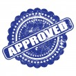 Seal of approval(quality check) grunge vector on white backgroun — Image vectorielle