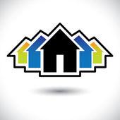 House(home) & резиденции подписать для недвижимости векторная графика — Cтоковый вектор