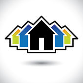 House(home) & residence sign for real estate- vector graphic — ストックベクタ