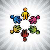 Concept vector graphic- colorful children or kids icons(symbols — 图库矢量图片