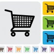 Shopping cart icon(symbol) for online purchases- vector graphic — Stockvector