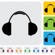 Stock vektor: Wireless headphone or headset icon(symbol) - simple vector graph