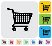 Shopping cart icon(symbol) for online purchases- vector graphic — Vetor de Stock