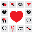 Abstract heart icons(signs) for healing, love, happiness- vector — Stock Vector