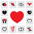 Abstract heart icons(signs) for healing, love, happiness- vector — Stock Vector #28185269