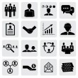 Office icons(signs) of people & concepts for business- vector gr — Stock Vector
