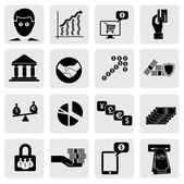 Bank & money icons(signs) related to wealth,assets- vector grap — Stock Vector