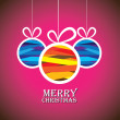 Abstract colorful xmas bauble balls on pink background- vector g — Stockvector #30352383