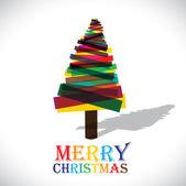 抽象多彩圣诞树上白色背景矢量图形 — 图库矢量图片