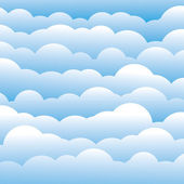 Abstract blue 3d fluffy clouds background (backdrop) - vector gr — Stock Vector