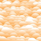 Abstract 3d orange evening clouds background (backdrop) - vector — Stock Vector