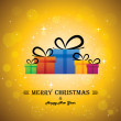 Merry christmas & happy new year with gifts - concept vector — Stock Vector #36632059