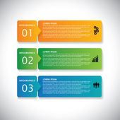 Colorful labels with sequence of steps - vector infographic ban — Stock Vector