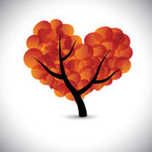 Heart shaped love tree with speech bubbles icons - vector graphi — Stock Vector
