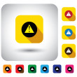 Caution message sign on button - flat design vector icon. — Stock Vector #41470781
