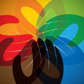 Concept vector icon of partnership, friendship, teamwork — Stock Vector