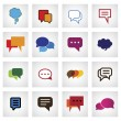 Chat flat icon in different colors, shapes, sizes - vector icons — Stock Vector #47745663