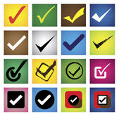 Tickmark, checkmark, right mark, correct choice - vector icons s — Stock Vector