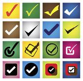 Tickmark, checkmark, right mark, correct choice - vector icons s — Stock Vector